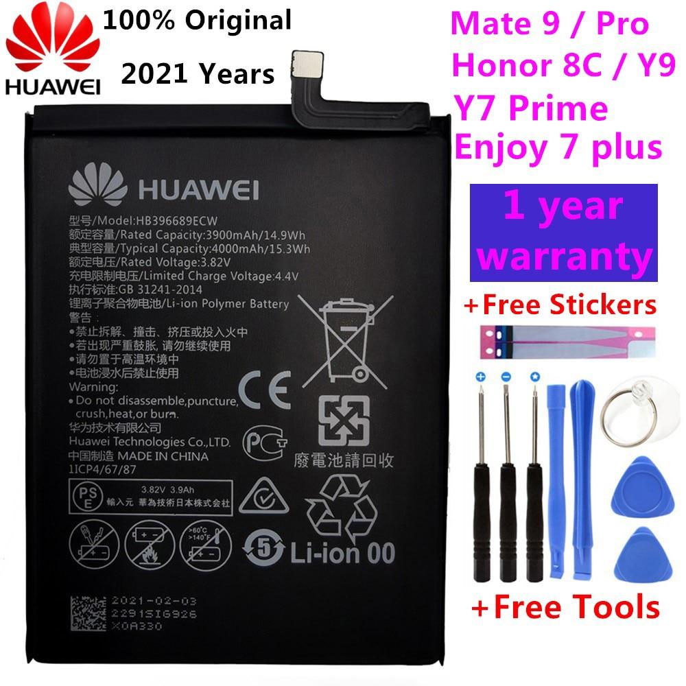 Original Replacement Phone Battery For Huawei Mate 9 Mate9 Pro Honor 8C Y9 2018 Version HB396689ECW Rechargeable Battery 4000mAh original huawei hb396689ecw phone battery for huawei mate 9 mate 9 pro honor 8c y7 pro 2017 y9 2018 enjoy 7 plus 4000mah