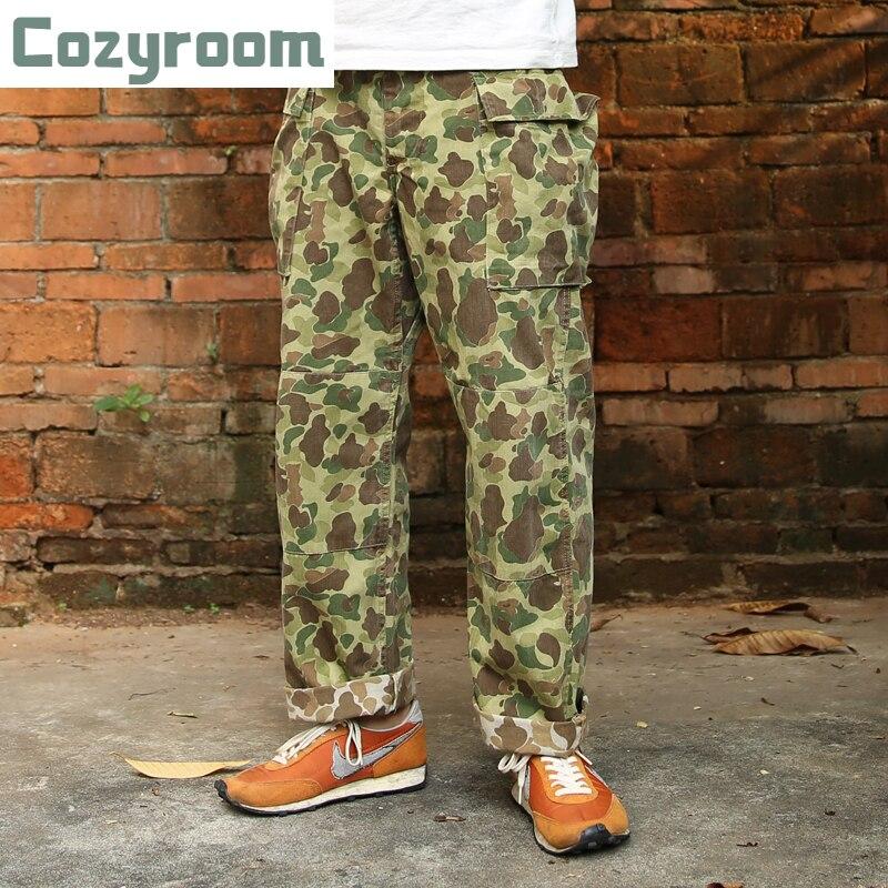Cozyroom HBT بطة هنتر بنطلونات مموهة كالزي العسكري الجيش الأمريكي العسكرية الرجال السراويل التعب
