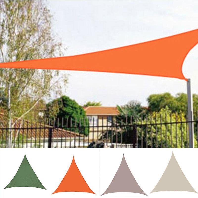 Toldo triangular de poliéster 300D impermeable para jardín, terraza, piscina, sombra para el sol, Camping, senderismo, patio, toldo de vela