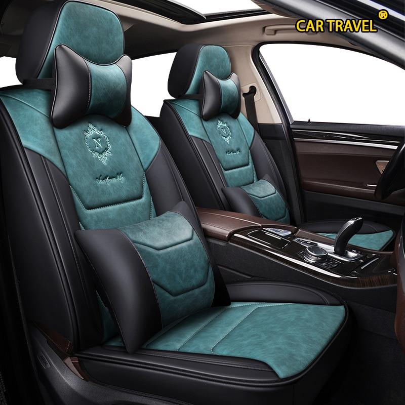 Fundas de cuero para asiento de coche de viaje para kia rio morning stinger niro cerato mohave sorento, accesorios para asientos stonic soul sportage