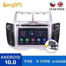 Android 10.0 odtwarzacz CD DVD dla Toyota Yaris 2005-2011 nawigacja multimedialna GPS radioodtwarzacz ekran dotykowy z Carplay 4 + 64G DSP