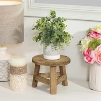 new wooden plant stand home stool multifunctional display home decoration balcony living room flower pot dirty resistant round