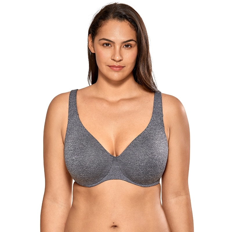 المرأة سلس التغطية الكاملة Underwire غير المبطنة حجم كبير مينيميزر الصدرية