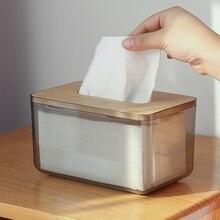 Nordique Simple créatif boîte à mouchoirs salon cuisine salle de bain accessoires papier plateau Restaurant serviette boîte de rangement Transparent