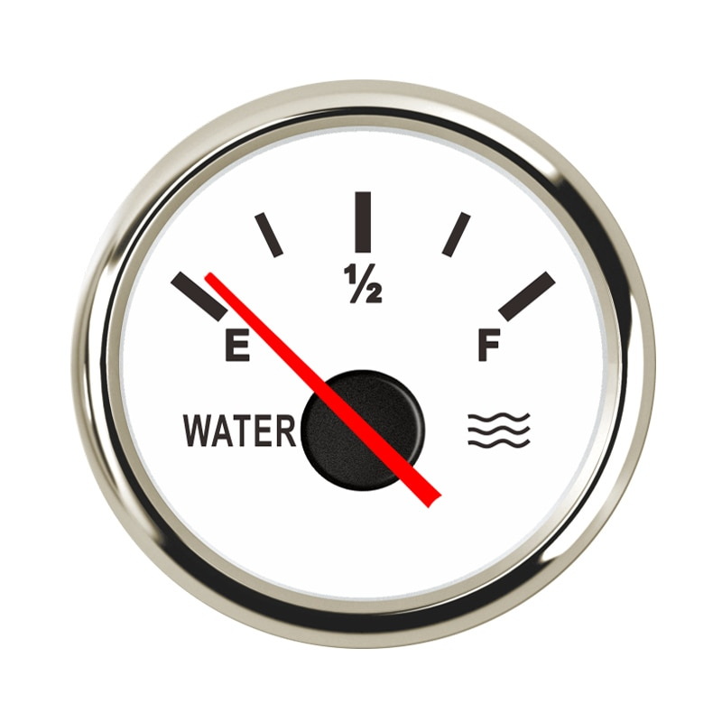 Indicador de nivel de tanque de agua para coches de 52mm, 9 ~ 32V, adecuado para 0 ~ 190ohm, Sensor de nivel de agua con retroiluminación