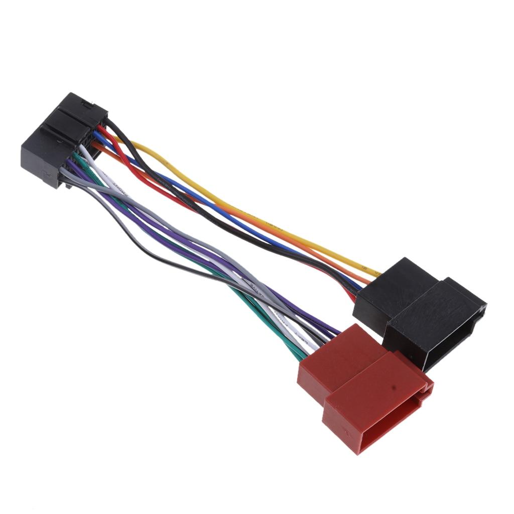 Soquete iso do ruído do cabo 16pin do adaptador de rádio do carro para conexões jvc