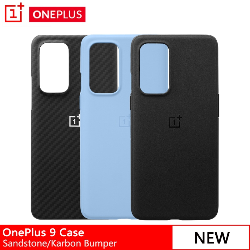 Newest Original OnePlus Case For OnePlus 9 Sandstone Bumper Protective Case For Oneplus 9 Karbon Bum