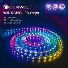 Smart Wifi RGB Led Strip Light USC1903 12V Addressable Led Lights with Remote Pixel Led Background A