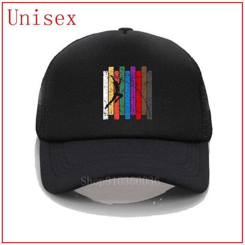 Pole Vault, sombreros de silueta para hombre, sombreros de béisbol para mujer, sombrero de cola de caballo cruzada, sombrero de sol, gorra de mujer, regalo del día del novio