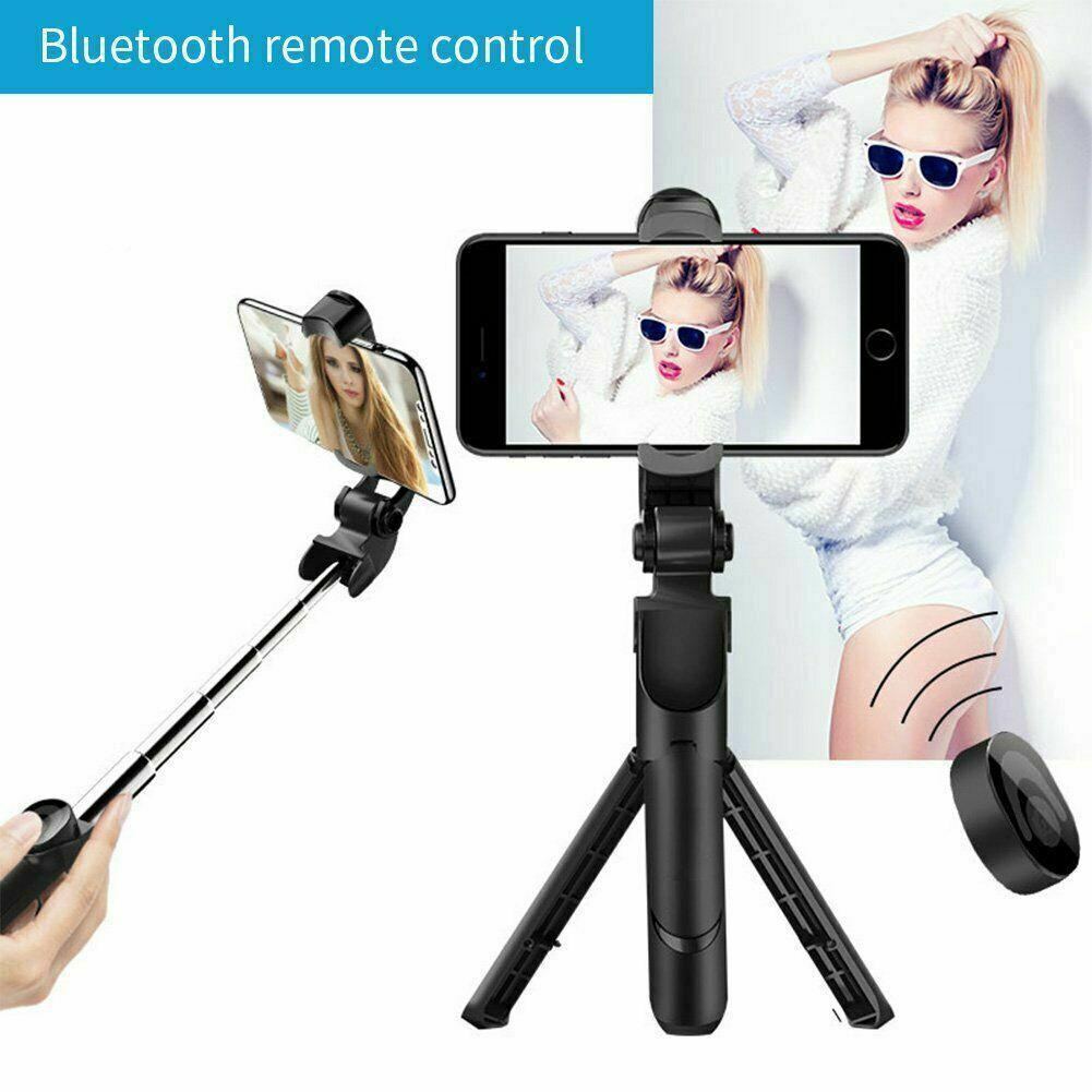 4 in 1 Wireless Bluetooth upgrade XT10 selfie stick horizontal shot vertical Retractable self-timer artifact live Stainless