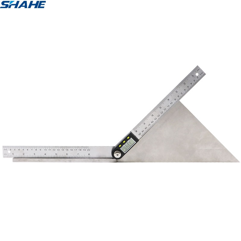 Shahe 200 мм цифровой транспортир Инклинометр электронный угол манометр из нержавеющей стали угол линейка Гониометр электронный транспортир