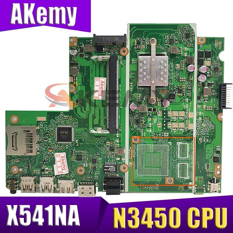 X541NA Laptop motherboard Celeron N3450 CPU GM for ASUS X541NA X541N X541NC original mainboard