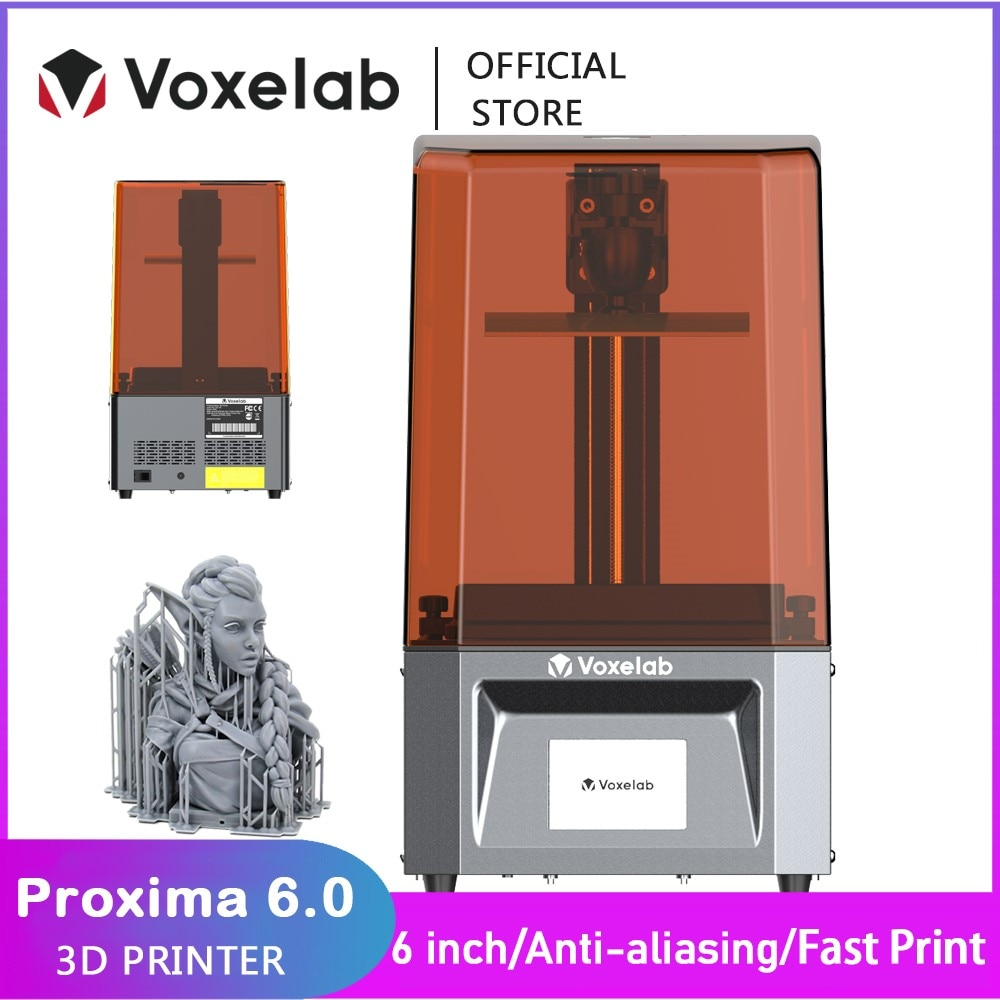 Voxelab Proxima 6.0 3D Printer High Precision UV Photocuring Resin Printer 2k LCD DIY Kit With Fast Printing Speed Dropship