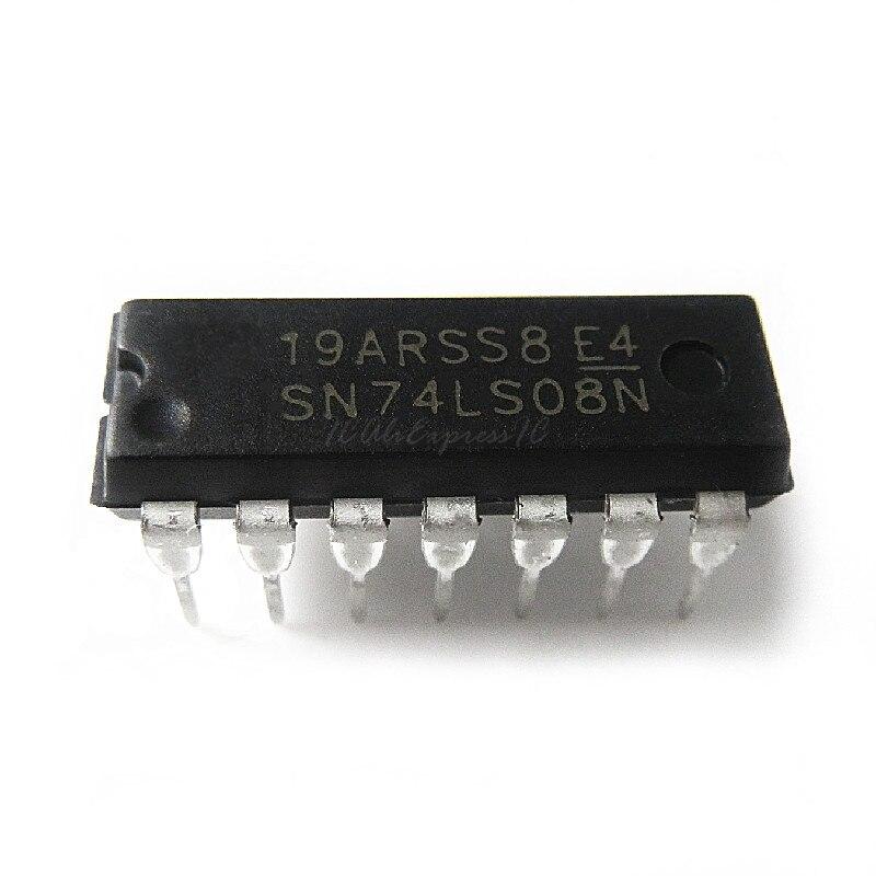 10 unids/lote SN74LS08N HD74LS08P 74LS08N 74LS08P 74LS08 DIP-14 en Stock