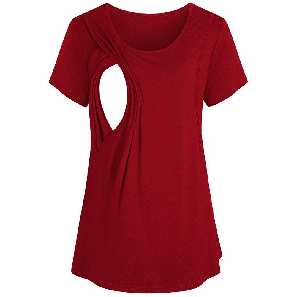 Camiseta de maternidad para mujer embarazada, camisa para amamantar embarazada, blusa de...