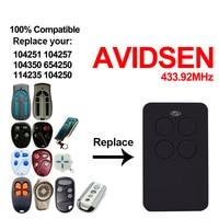 For AVIDSEN 104251 104257 104350 654250 114235 104250 AVIDSEN garage door remote control gate AVIDSEN 433.92mhz rolling code