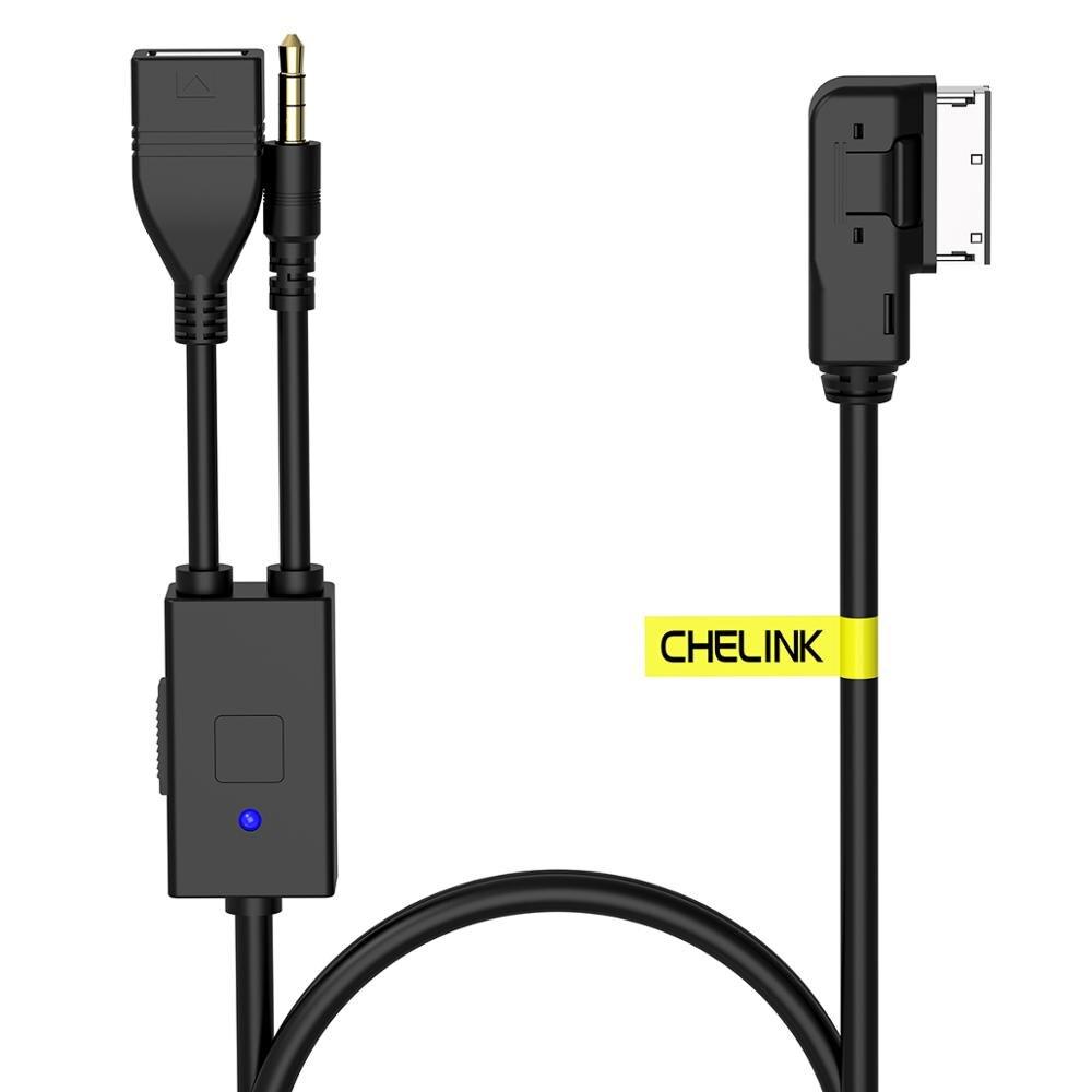 Cable de carga de datos USB estéreo 3,5mm Audio hembra Aux para AUDI VW