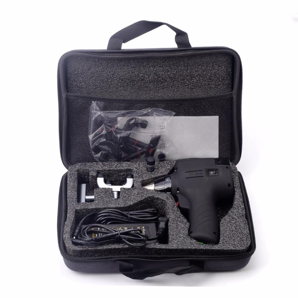 أداة تعديل تقويم العمود الفقري ، مسدس تصحيح كهربائي ، منشط للعمود الفقري ، مدلك واقي للعمود الفقري ، 6 مستويات ، 3 رؤوس