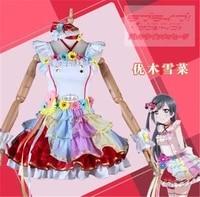 loveliveperfect dream project love u my friends idol yuki setsuna dress halloween cosplay costume for women free shipping a