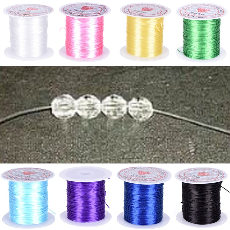 Crystal Beading Stretch Cord 0.8mm DIY Elastic Line Transparent Clear Round Beading Wire/Cord/String/Thread Jewelry Making