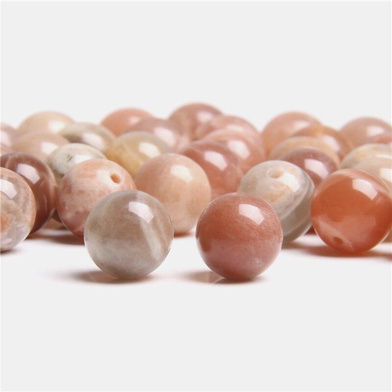Natural laranja sunstone gema pedra grânulos 8mm 10mm redondo solto espaçador grânulos para fazer jóias pulseira colar feminino feito à mão
