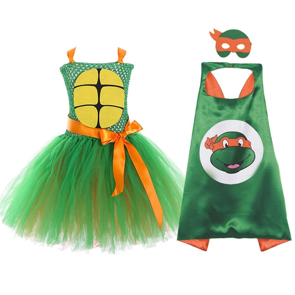 Mädchen Prinzessin Tutu Kleid Kinder Mädchen Ninja Turtl Kleider kinder Halloween Super Hero Kleid Up Kind Mädchen Kostüm