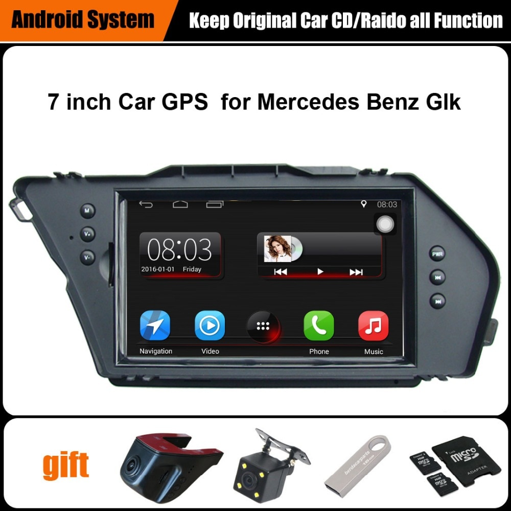 Original mejorada coche Multimedia Player navegación GPS para Mercedes Benz Glk WiFi Bluetooth