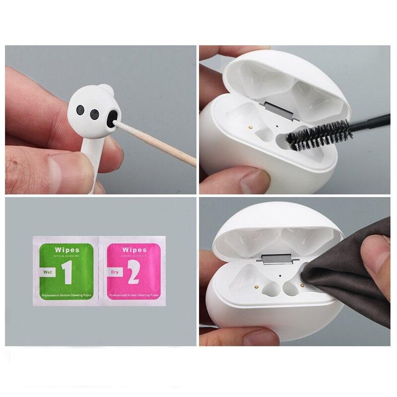 Cepillo herramienta de limpieza para Airpods Pro 2 1 para Xiaomi Airdots para Huawei Freebuds 2 Pro auriculares Bluetooth estuche Herramientas de limpieza