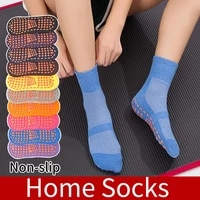 sale solid color ankle grip socks for men and women mesh non slip breathable gripper slipper socks wholesale quick delivery