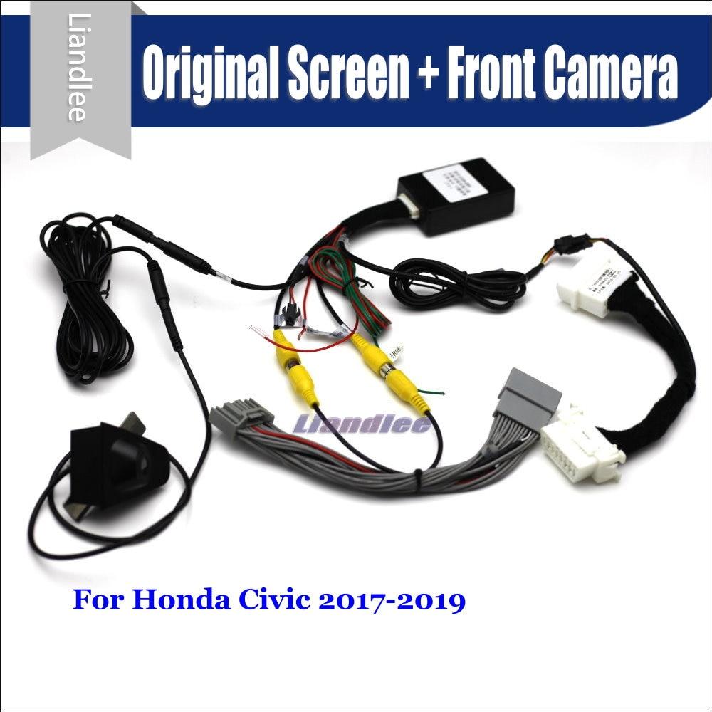 For Honda Civic 2017 2018 2019 Car Front View camera Parking System CANBUS Original Screen AUTO Rear Reverse CAM
