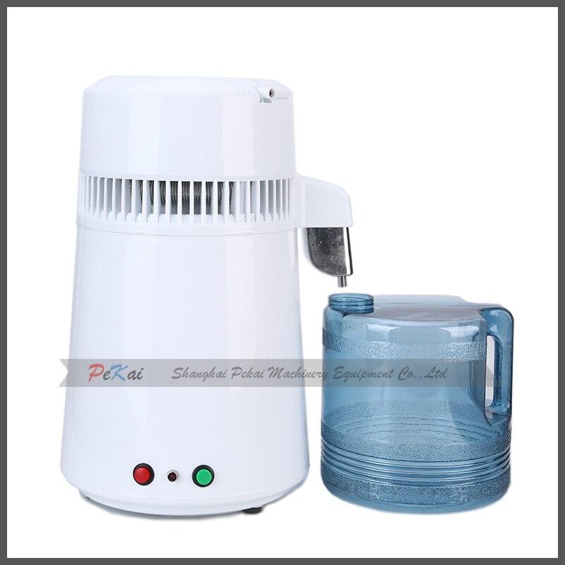 جهاز تقطير المياه 220 فولت 750 وات 304 من الفولاذ المقاوم للصدأ 4 لتر للاستخدام المنزلي والمختبرات الطبية