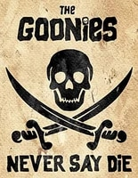 vintage wall tin plaque pub shed bar man cave home bedroom office gift metal sign goonies never say die inspired movie retro