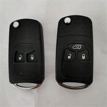 DAKATU 2/3 przyciski zaktualizowane składany pilot zdalnego sterowania klucz Shell Case dla Chrysler Jeep Compass Wrangler Patriot Fob klucz pokrywa