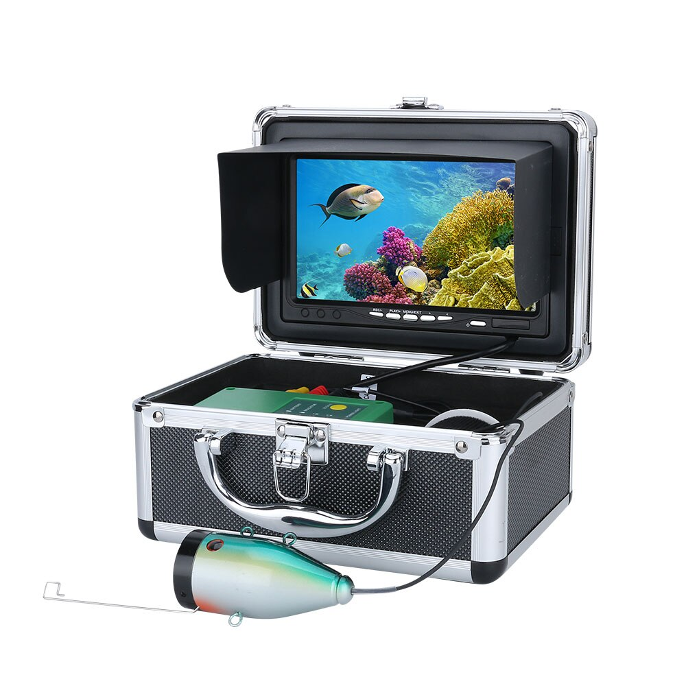 7'' HD 1080P DVR Fish Finder Underwater Fishing Camera HD 1280*720 Screen15pcs White LEDs+15pcs Infrared Lamp enlarge