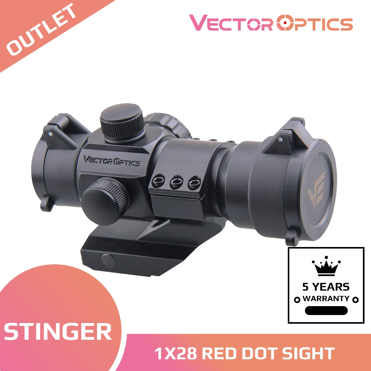Оптический прицел для охоты, Коллиматорный прицел с красной и зеленой точкой, 5 уровней, 1x28