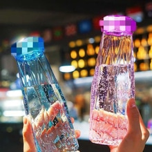 Fairy Crystal Diamond Water Bottle BAP Free 420ML Glass Sport Bottle botella de agua Leak Proof Outd