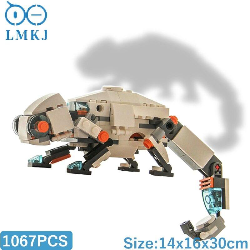 Подвижная модель MOC из серии «Хамелеон», миниатюрная Модель для сборки, конструктор «сделай сам», кирпичи, Docoration, игрушки для детей, подарки
