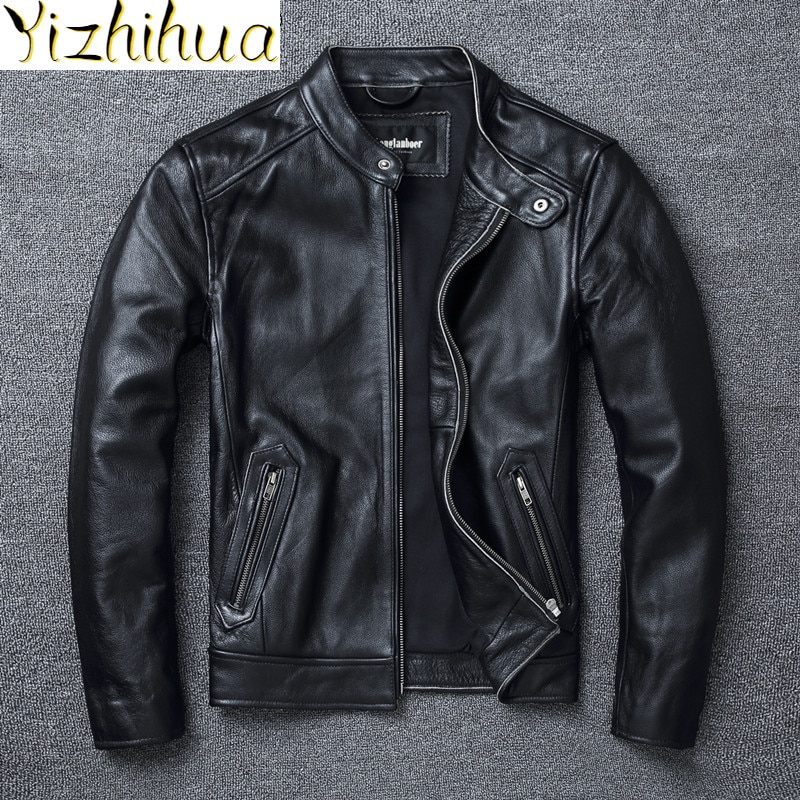 Azazel Men's Clothing Genuine Cow Leather Jacket Men Motorcycle Mens Jackets Vintage Clothes Autumn Coat 5XL 6XL Veste LXR634