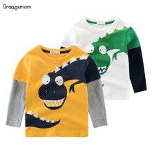 Vêtements de printemps pour enfants garçon   2020 coton, gros modèle de dinosaure, pour mères et enfants, vente en gros