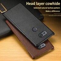 leather phone case for sony xperia xa xa1 xa2 xa3 ultra z2 z3 z4 z5 xz xz1 xz2 premium xz3 xz4 x mini 1 5 8 10 20 litchi texture