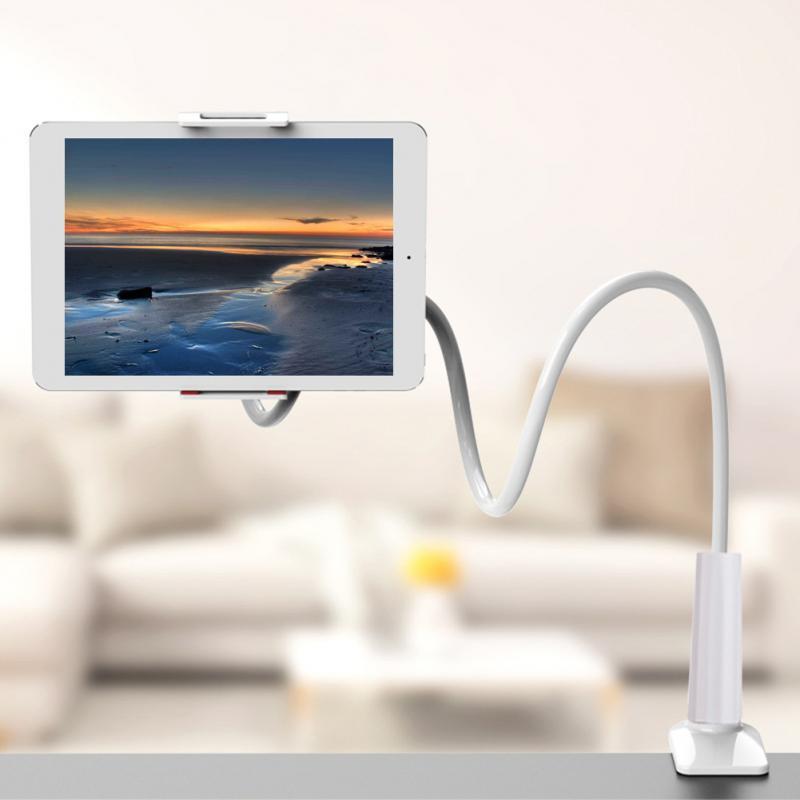 Soporte Universal para teléfono móvil Lazy, soporte Flexible para escritorio y cama, soporte para Tablet de 4 a 10,6 pulgadas, rotación redonda de 360 °