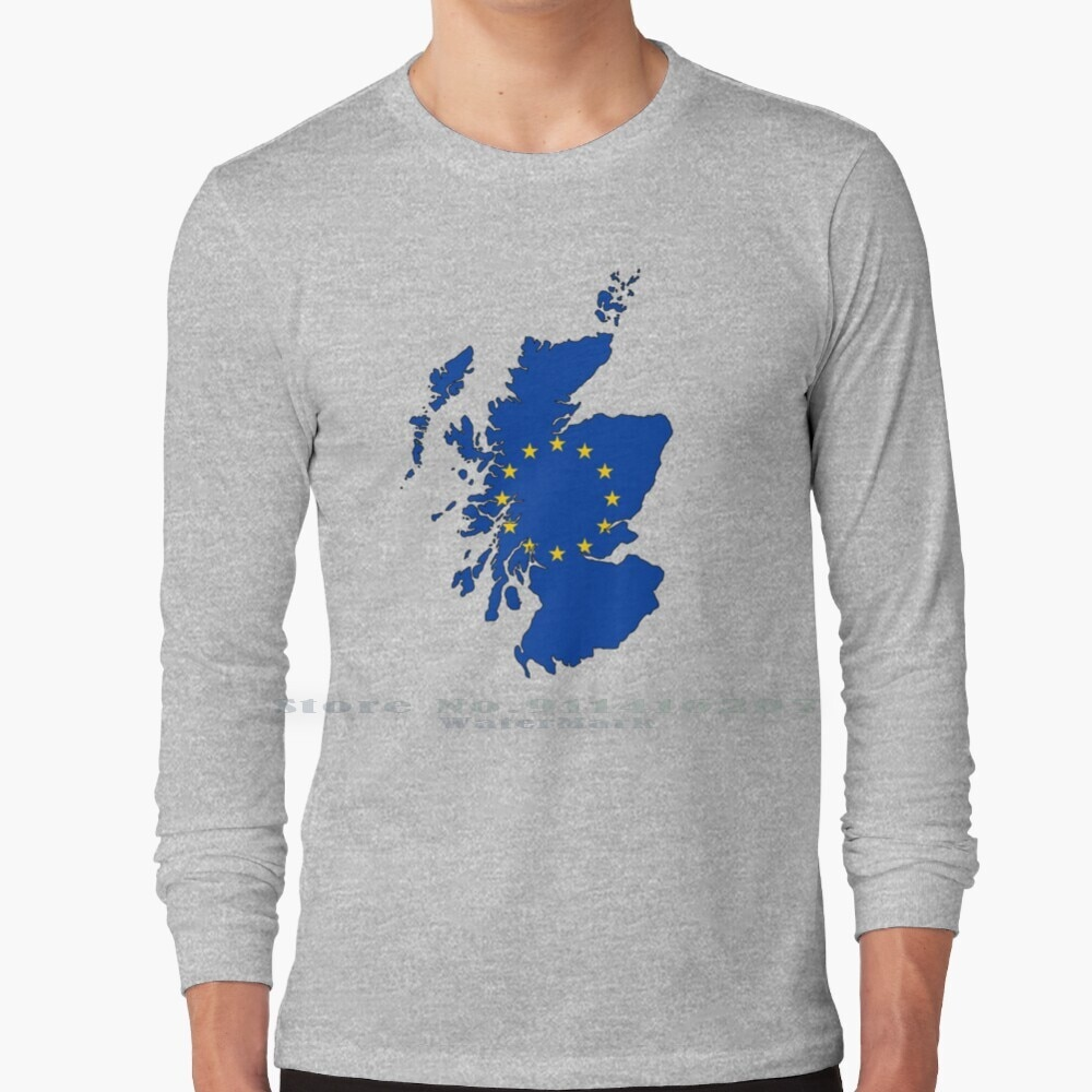 Scotland Map With Eu Flag T Shirt 100% Pure Cotton Uk Britain Great Great Britain United Kingdom United Kingdom Washed Out
