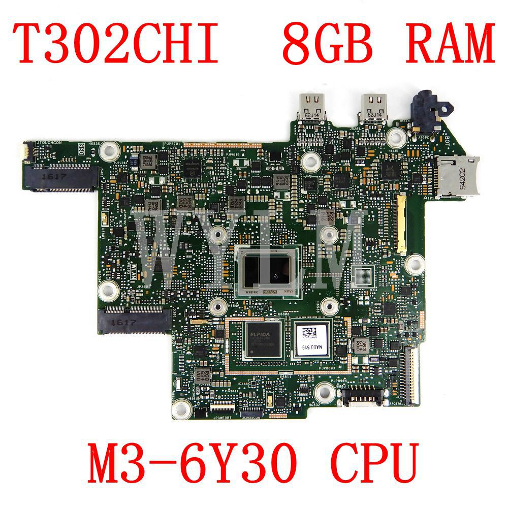 T302CHI MAIN_BD._ 8G/M3-6Y30/AS اللوحة الرئيسية REV2.0 ل Asus T302 T302C T302CH T302CHI اللوحة الأم اختبار شحن مجاني