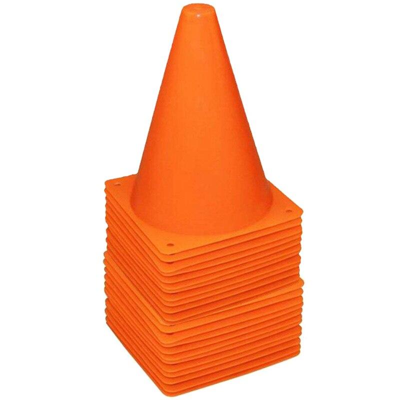 36 Paquete de 7 pulgadas de plástico de conos de tráfico deporte cono de entrenamiento de campo conos marcadores para Skate de agilidad y formación física Ed