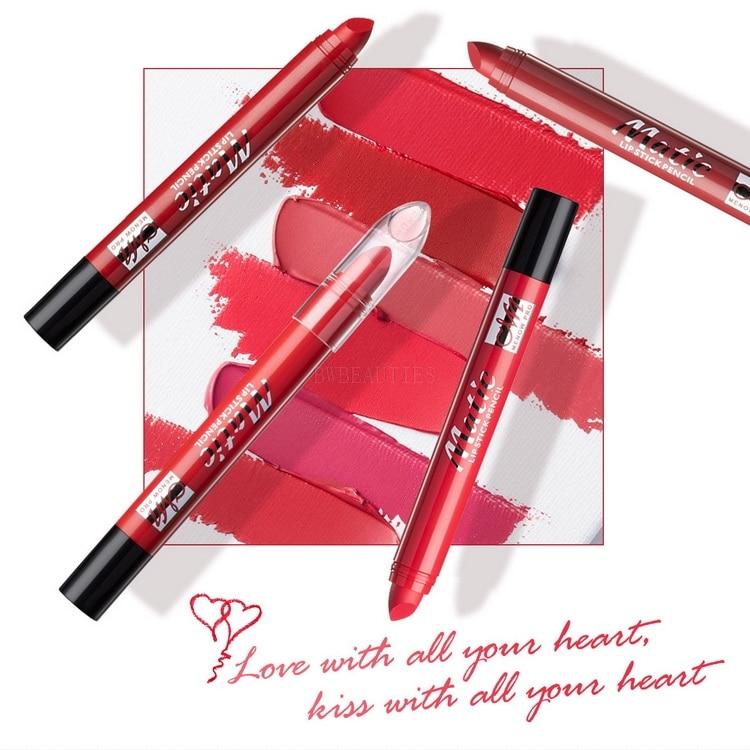 MENOW Brand Waterproof Matte Lipsticks Velvet Lip Sticks Cosmetic Easy to Wear Matte Batom Makeup Lipstick 1000pcs/Lot