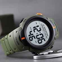 Часы наручные SKMEI Мужские Цифровые, спортивные уличные модные светодиодсветильник с секундомером, Водонепроницаемость 100 м