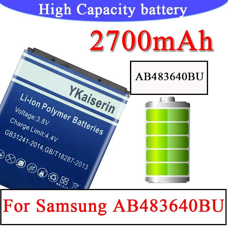 AB483640BU para Samsung batería SL-M608 J600 J608 B3210 C3050 E740 E748 F110 F118 F619 G618 J218 batería Batteria + pista código