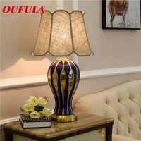 oulala ceramic table lamps desk lights luxury modern contemporary fabric for foyer living room office creative bed room hotel