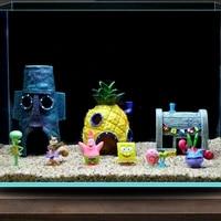 cartoon fish tank aquarium decoration anime house for fish