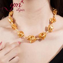 Mode Schmuck Halsketten Für Frauen Handgemachte Strang Halsketten Schmuck 2019 Trendy Unregelmäßigen Shell Perle Halskette Frauen